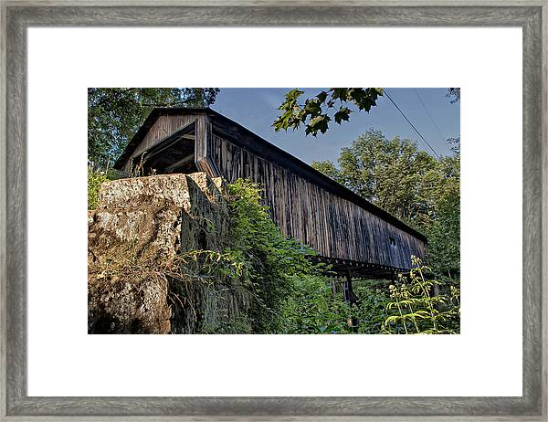 Rock Creek Road Covered Bridge Framed Print