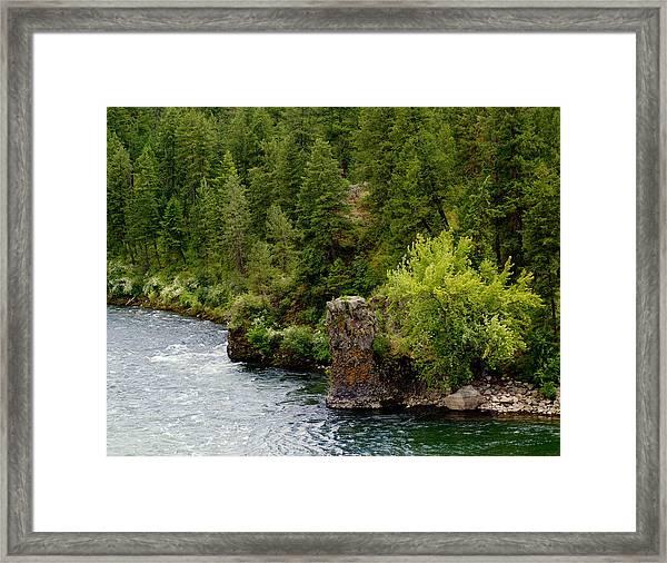 Rockin The Spokane River Framed Print
