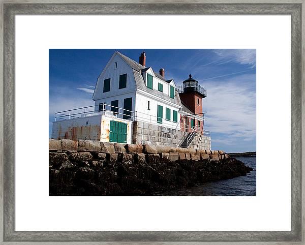 Rockland Breakwater Lighthouse Framed Print