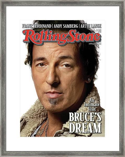 Rolling Stone Cover - Volume #1071 - 2/5/2009 - Bruce Springsteen Framed Print