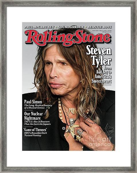 Rolling Stone Cover - Volume #1130 - 5/12/2011 - Steven Tyler Framed Print