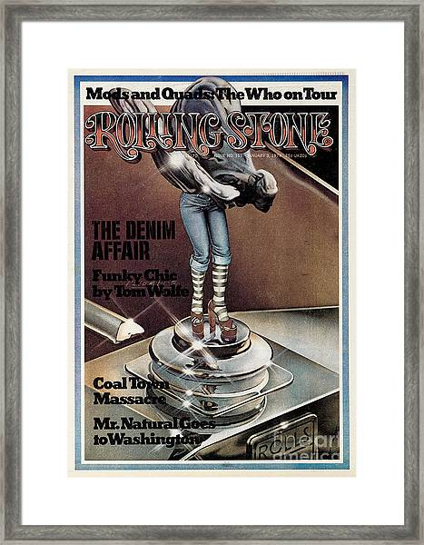 Rolling Stone Cover - Volume #151 - 1/3/1974 - Funky Chic Framed Print by Peter Palombi