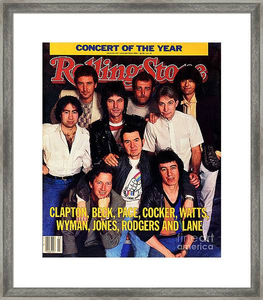 Rolling Stone Cover - Volume #413 - 1/19/1984 - Arms Concert Framed Print by Bonnie Schiffman