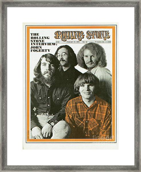 Rolling Stone Cover - Volume #52 - 2/21/1970 - Creedence Clearwater Revival Framed Print by Baron Wolman