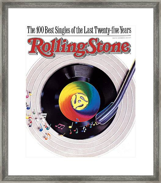Rolling Stone Cover - Volume #534 - 9/8/1988 - 100 Greatest Singles Framed Print by Steve Pietzsch