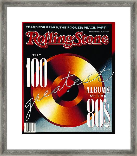 Rolling Stone Cover - Volume #565 - 11/16/1989 - 100 Greatest Albums Of The '80's Framed Print