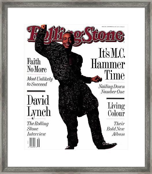Rolling Stone Cover - Volume #586 - 9/6/1990 - Mc Hammer Framed Print