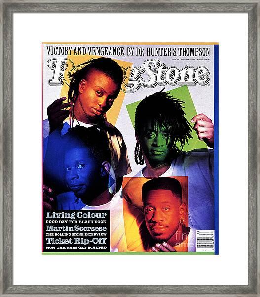 Rolling Stone Cover - Volume #590 - 11/1/1990 - Living Colour Framed Print
