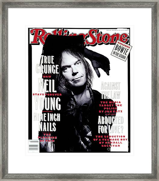 Rolling Stone Cover - Volume #648 - 1/21/1993 - Neil Young  Framed Print