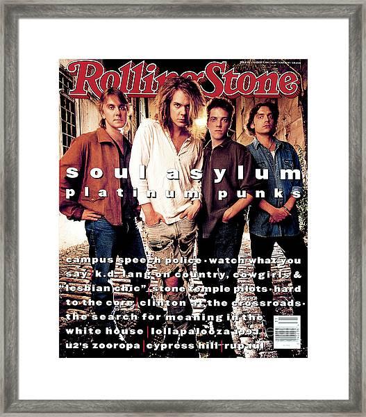 Rolling Stone Cover - Volume #662 - 8/5/1993 - Soul Asylum Framed Print