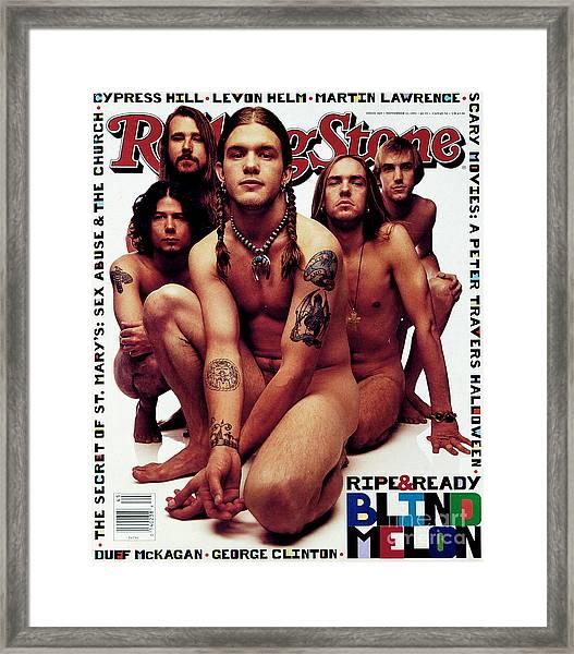 Rolling Stone Cover - Volume #669 - 11/11/1993 - Blind Melon Framed Print by Mark Seliger