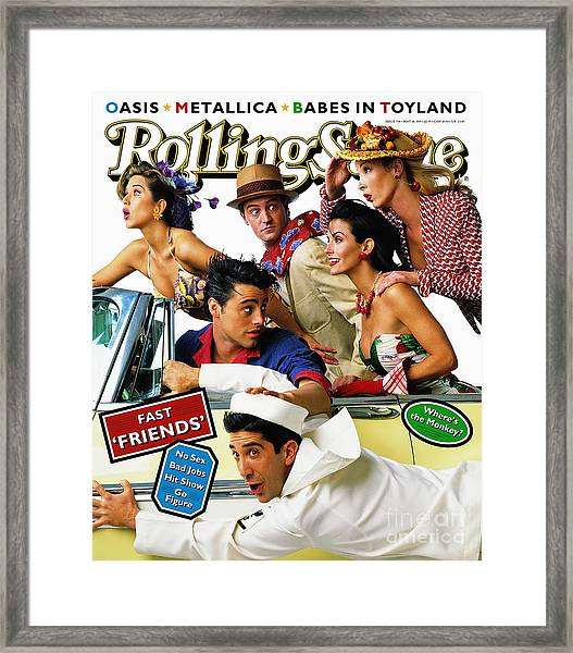 Rolling Stone Cover - Volume #708 - 5/18/1995 - Cast Of Friends Framed Print