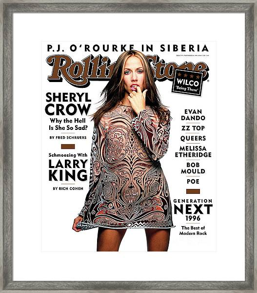Rolling Stone Cover - Volume #747 - 11/14/1996 - Sheryl Crow Framed Print