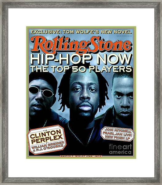 Rolling Stone Cover - Volume #798 - 10/29/1998 - Hip Hop Now Framed Print