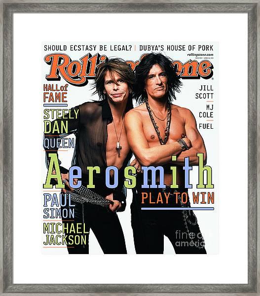 Rolling Stone Cover - Volume #867 - 4/26/2001 - Steven Tyler And Joe Perry Framed Print