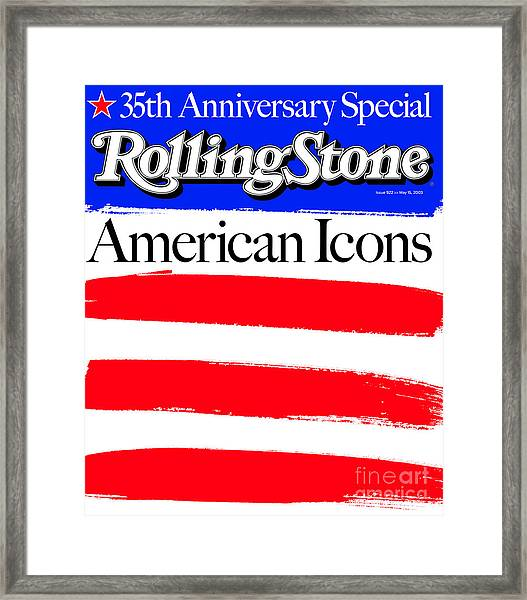 Rolling Stone Cover - Volume #922 - 5/15/2003 - American Icons Framed Print