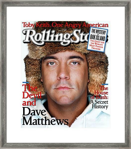 Rolling Stone Cover - Volume #940 - 1/22/2004 - Dave Matthews Framed Print