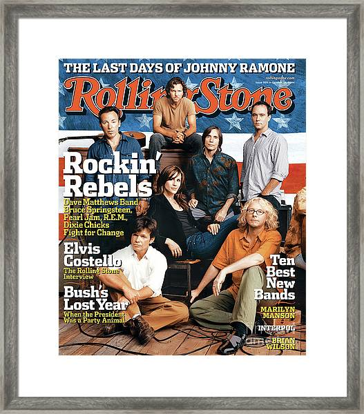 Rolling Stone Cover - Volume #959 - 10/14/2004 - Voices For Change Framed Print by Norman Jean Roy
