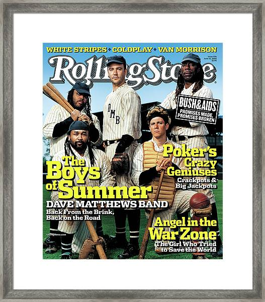 Rolling Stone Cover - Volume #976 - 6/16/2005 - Dave Matthews Band Framed Print