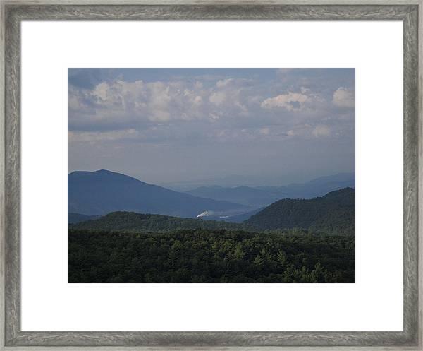 Rolling Through The Blue Ridge Framed Print by Victoria Ashley