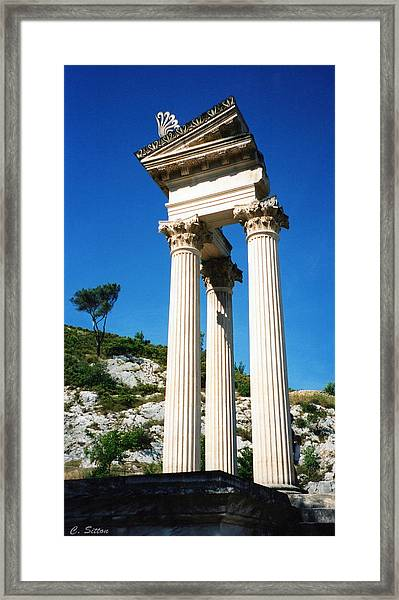 Roman Columns Of Glanum Framed Print
