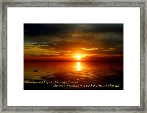 Romance Is In The Air Framed Print