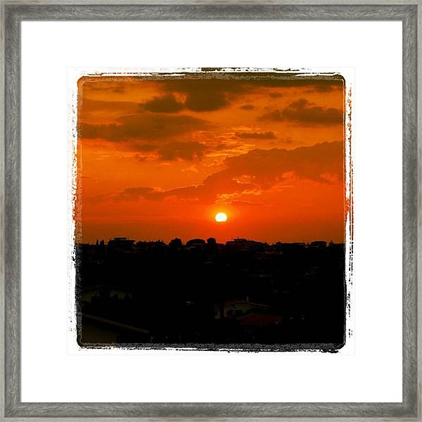 Rome's Sunset Framed Print