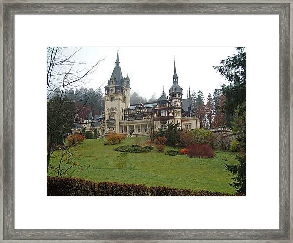 Royal Peles Castle Sinaia Romania Framed Print by Mircea Veleanu