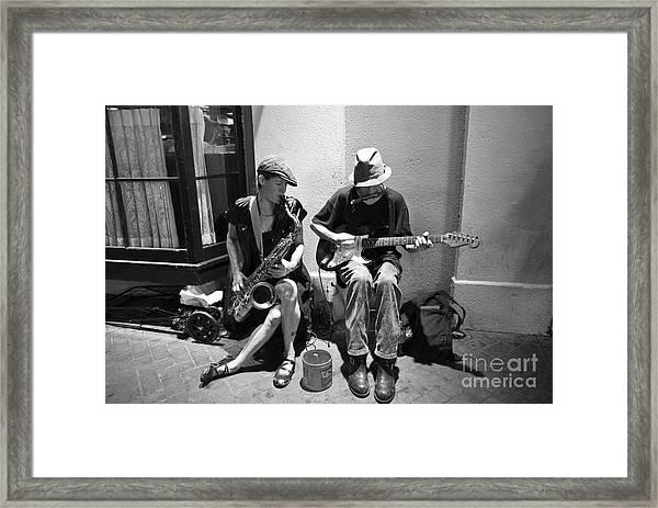 Royal Street Music Framed Print