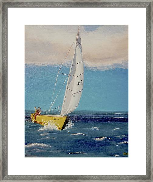 Rush To Shore Framed Print
