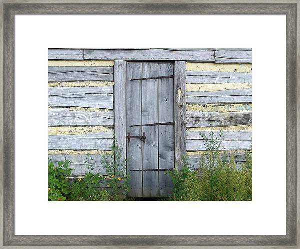 Rustic Door Framed Print