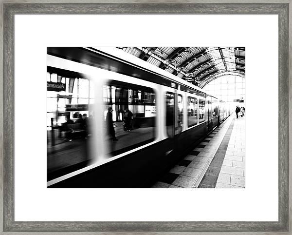 S-bahn Berlin Framed Print