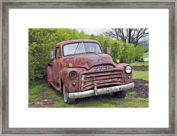 Sad Truck Framed Print