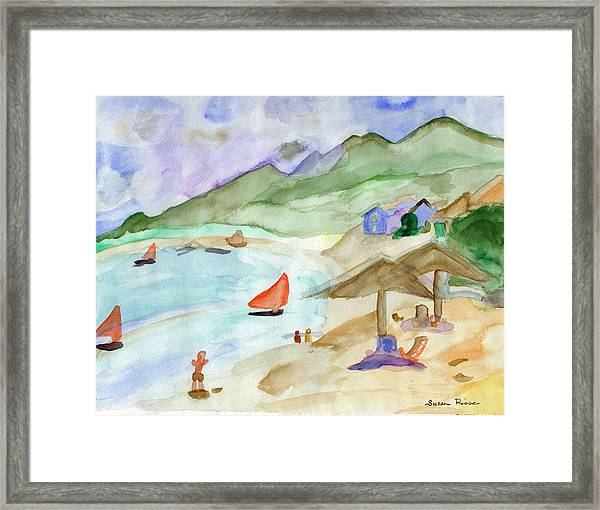 Sailboats Framed Print by Susan Risse