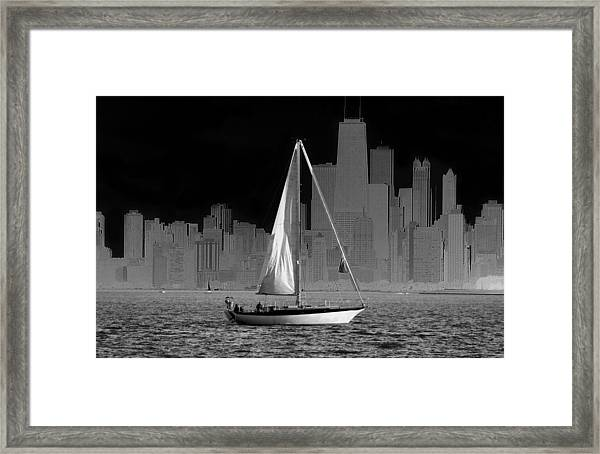 Sailing In Lake Michigan Framed Print