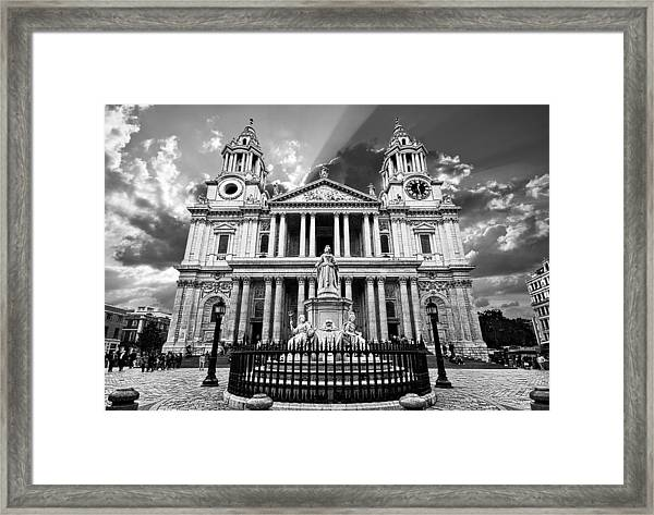 Saint Paul's Cathedral Framed Print by Meirion Matthias