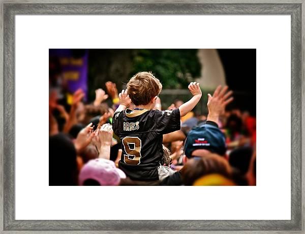 Saints Boy Framed Print