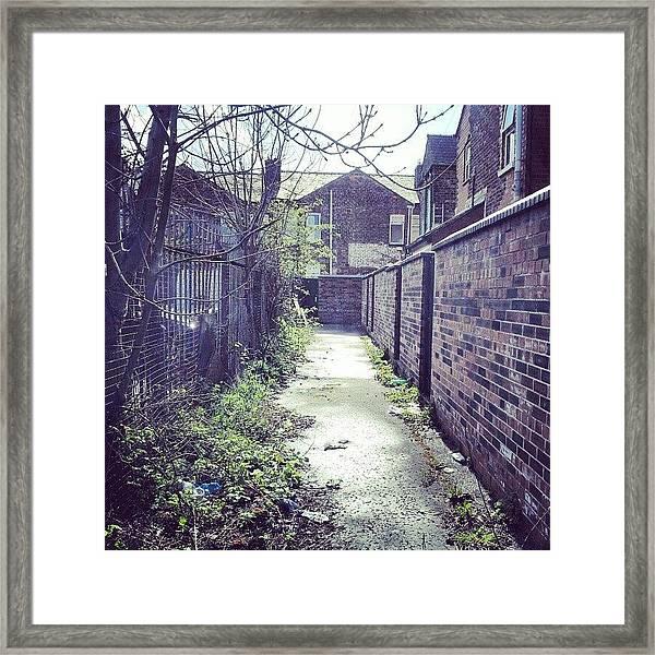 #salford #manchester #houses Framed Print