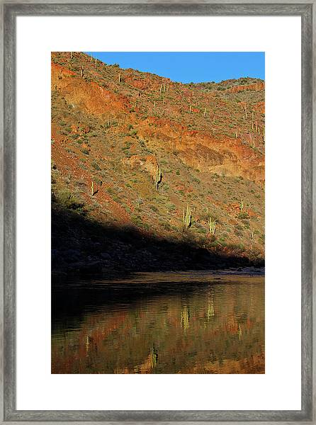 Salt River Sunset Framed Print