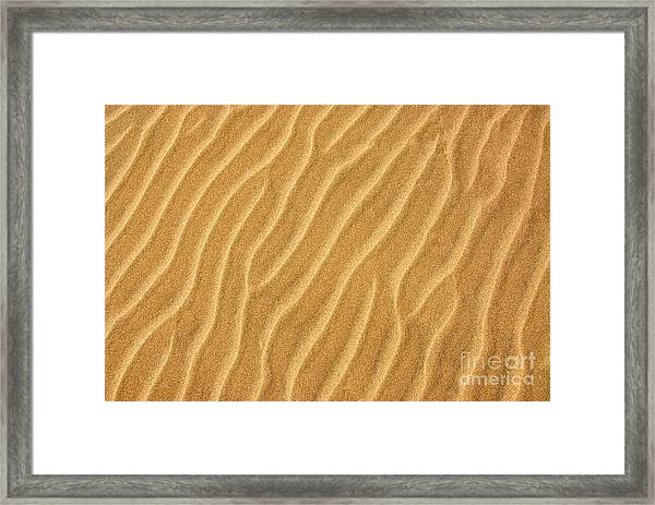 Sand Ripples Abstract Framed Print