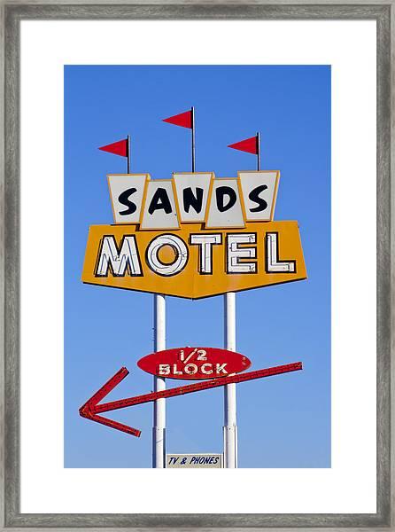 Sands Motel Framed Print