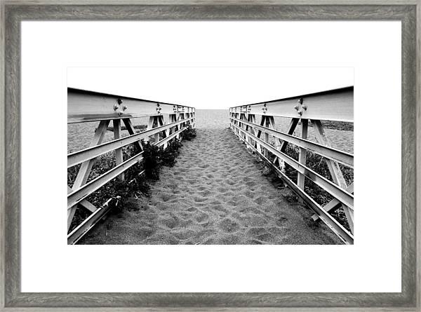 Sandy Bridge - Black And White Framed Print
