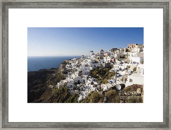 Santorini Cliff Framed Print