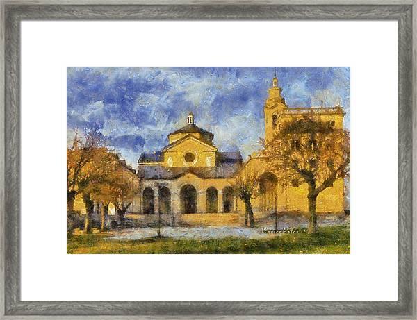 Santuario Della Madonna Della Guardia Framed Print