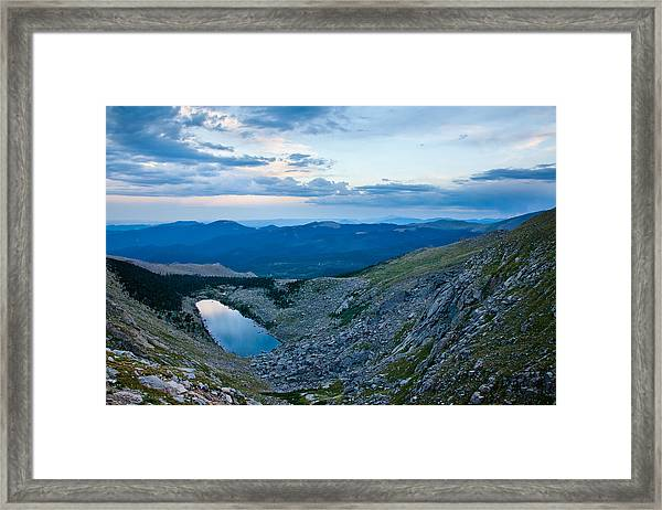 Sapphire In The Wilderness Framed Print by Adam Pender