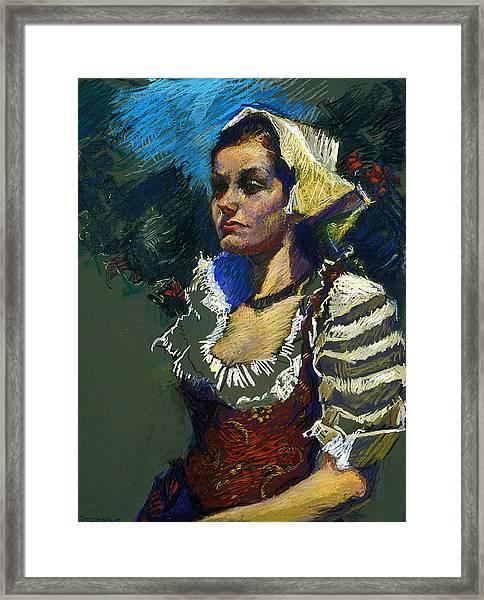 Sardinian Woman Framed Print