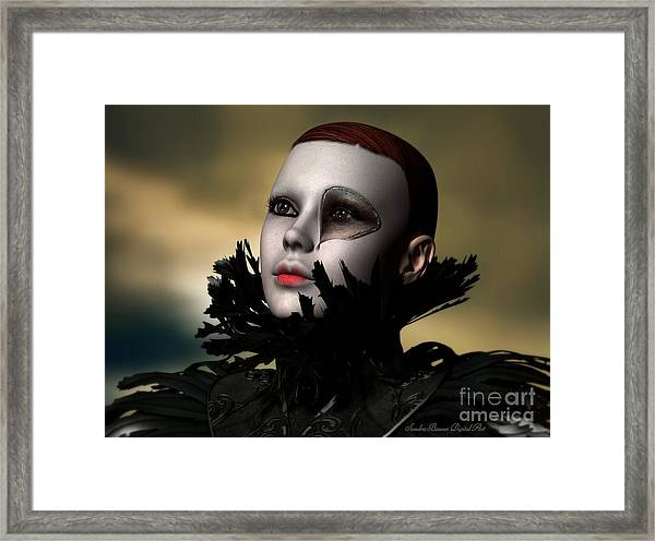 Scarred Beauty Framed Print by Sandra Bauser Digital Art