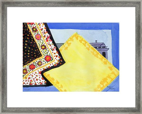 Scarves Framed Print by Susan Risse