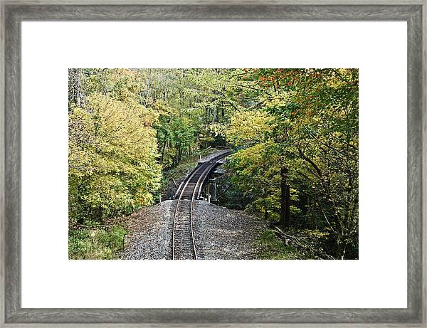 Scenic Railway Tracks Framed Print