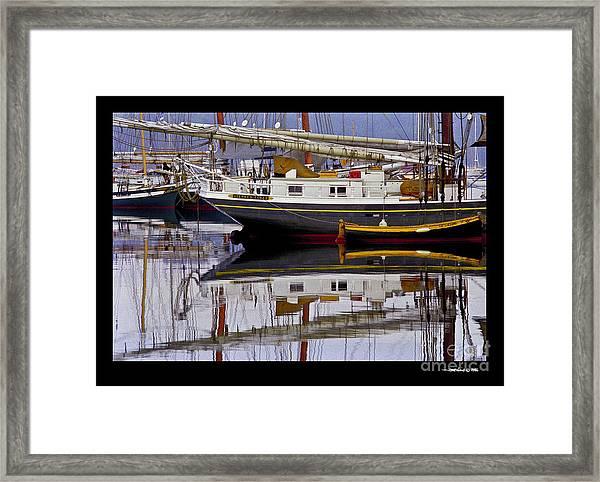 Schooner Stephen Taber  Framed Print